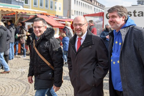 Marc Herter (SPD), Martin Schulz (SPD), Michael Thews (SPD)